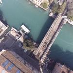 Vista dall'alto del ponte dell'accademia